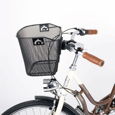 Корзина на руле женского велосипеда