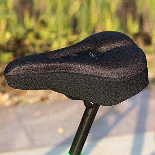 Гелевая накладка установленная на седло велосипеда