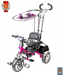 ТРЕХКОЛЕСНЫЙ ВЕЛОСИПЕД LEXUS TRIKE ORIGINAL RT GRAND PRINT DELUXE NEW DESIGN 2014 MALINA